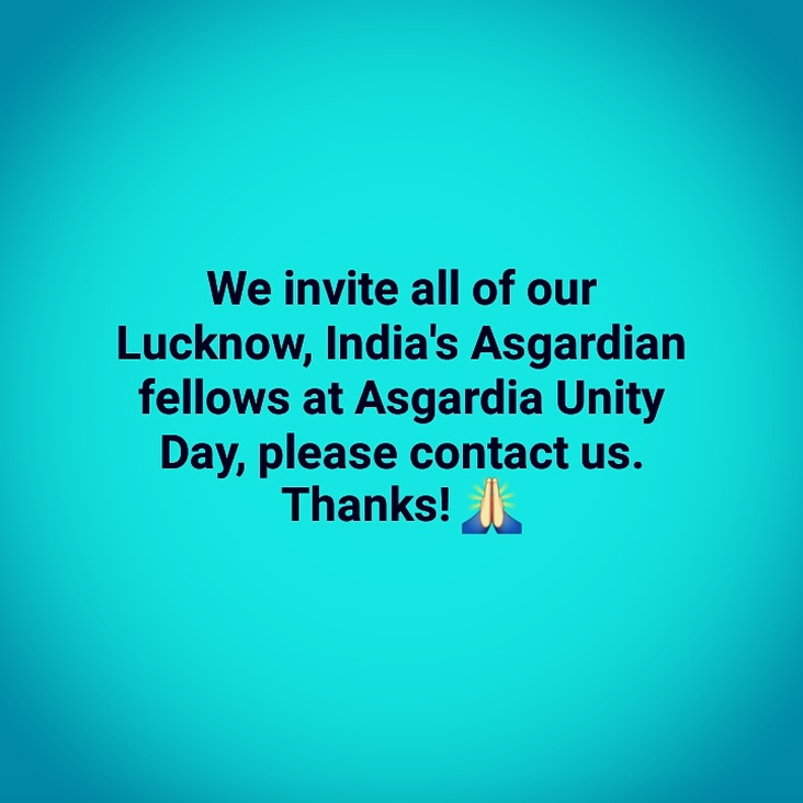 Invitation for Lucknow-India Asgardians: