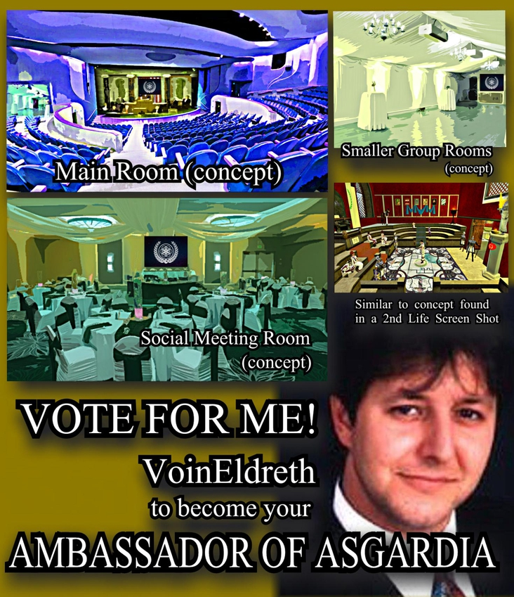 i'M RUNNING TO BECOME YOUR; AMBASSADOR OF ASGARDIA IN THE UNITED STATES