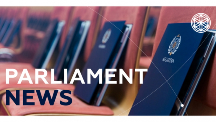 Parliament Update, Asgard 14, 0003 (01 July 2019)