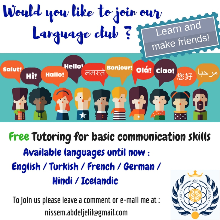 Free tutoring in different languages offered by Asgardians volunteer. دروس لغات مجانية