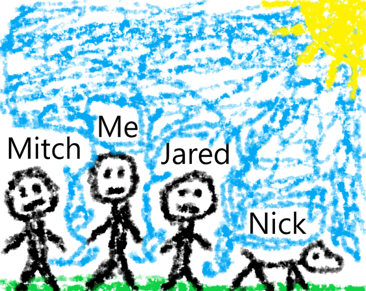 Just a drawing of me and my friends