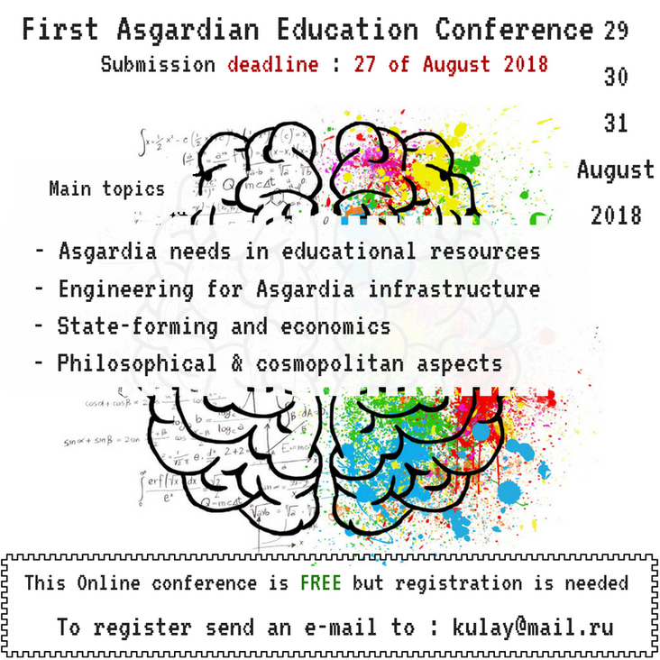 Coming soon : Asgardian Education Conference
