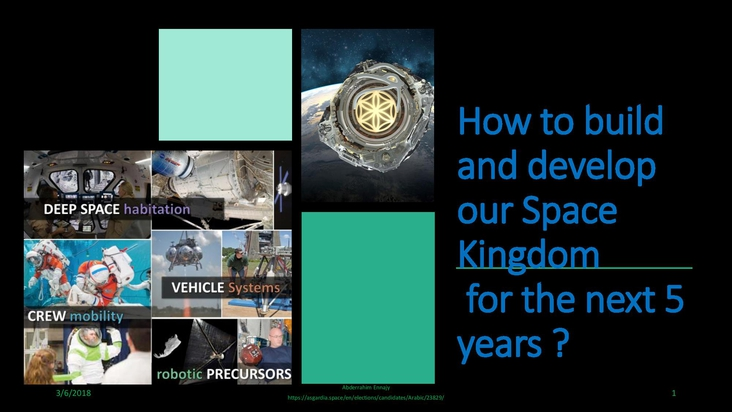 How to build and develop our Space Kingdom for the         next 5 years ?