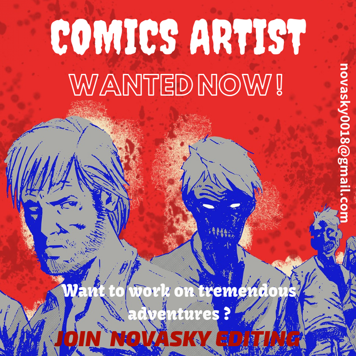 COMICS ARTIST WANTED