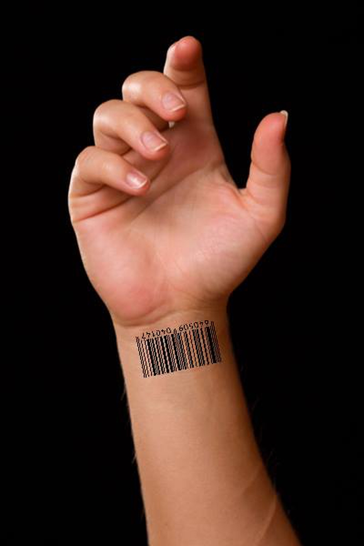 bar code tattoo for selected asgardian