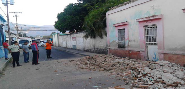 strong earthquake leaves material damage in Venezuela, 8 kilometers from the city of Guacara in the state carabobo