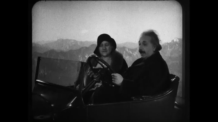 Newly Unearthed Footage Shows Albert Einstein Driving a Flying Car (1931)