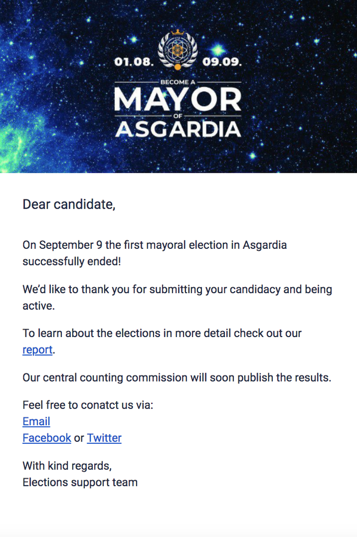 Mayoral Election Ended