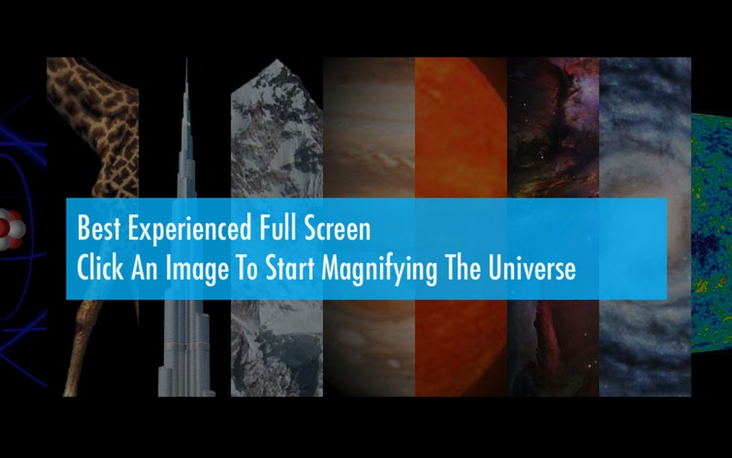 Magnifying the Universe: Move From Atoms to Galaxies in HD