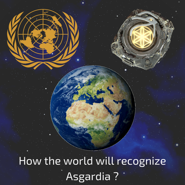 How will the international community recognize Asgardia?