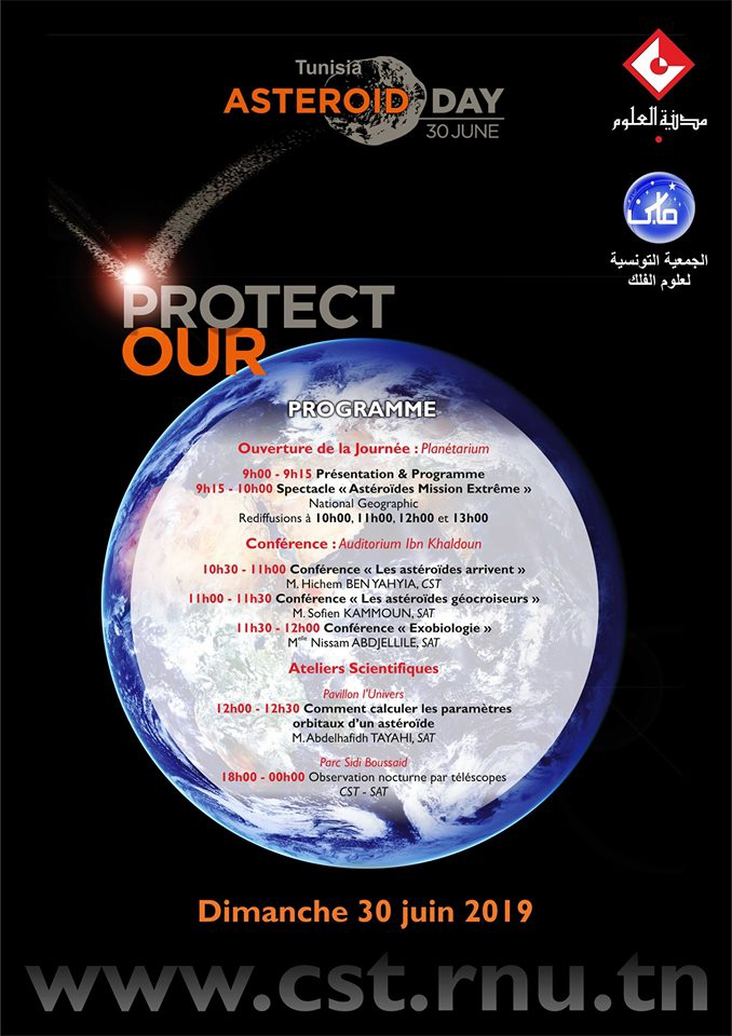 Participation to Asteroid day in Tunisia, a free and public event.