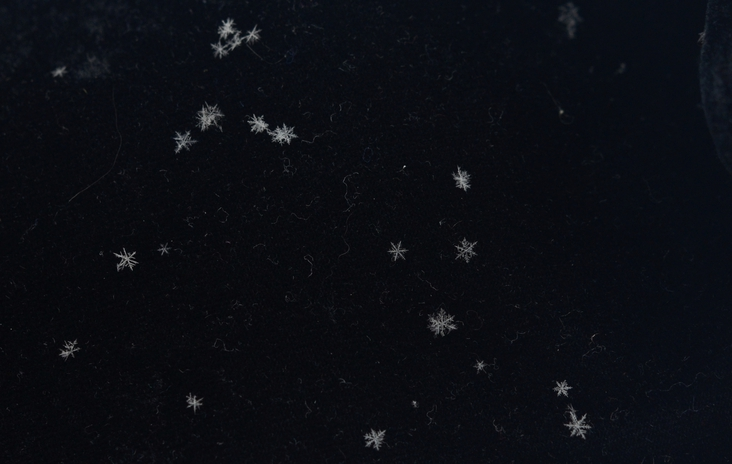Snowflakes and the sky